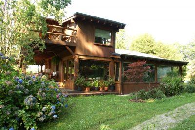 vivienda con estructura de madera