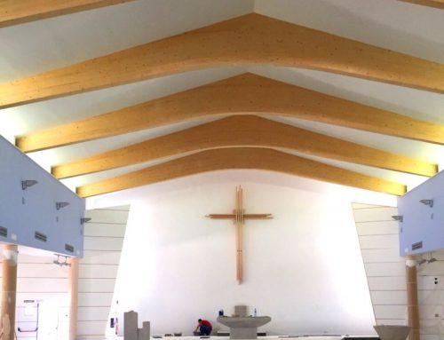 Cubierta de madera laminada para iglesia en Tomelloso