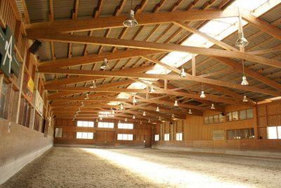 estructura de madera para centro hipico