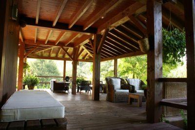 estructura de madera para exteriores