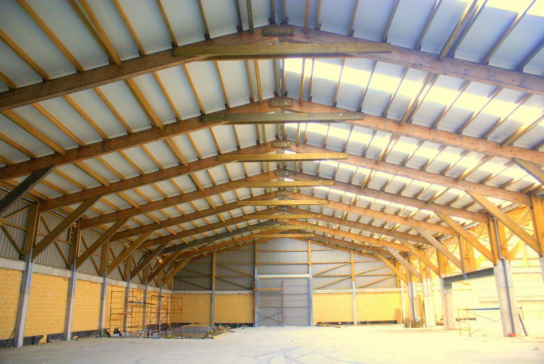 estructura de madera para nave industrial