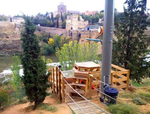 Proyecto y construcción de tirolina sobre el río Tajo en Toledo