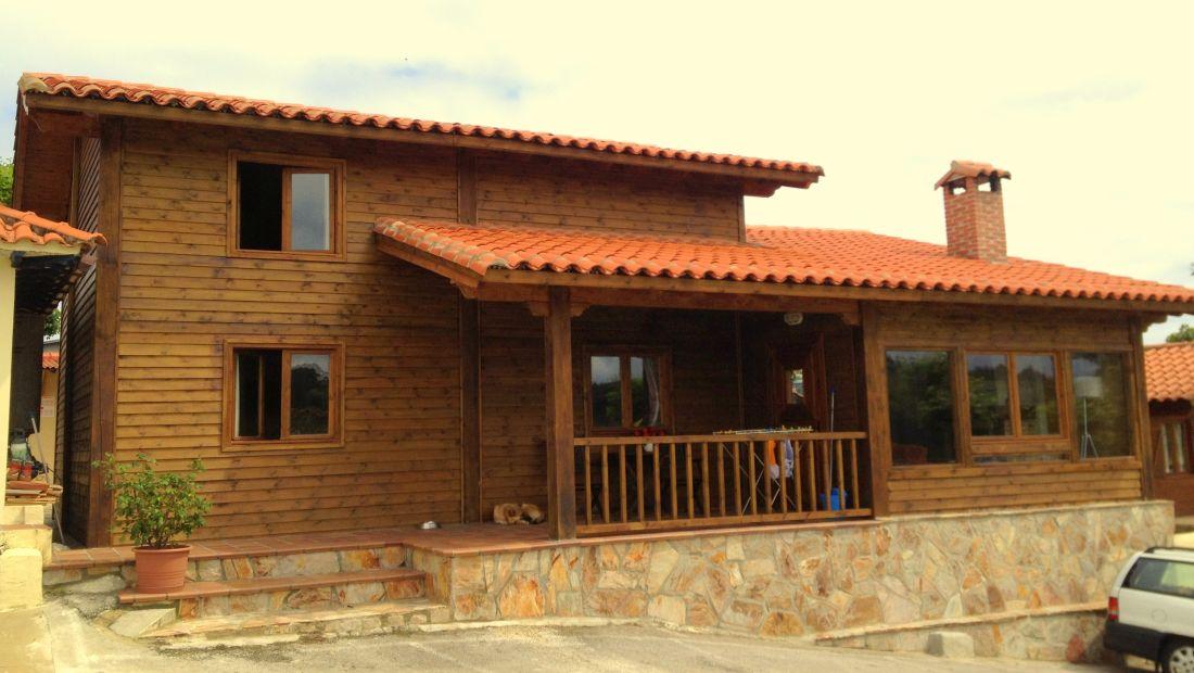 vivienda con entramado ligero de madera